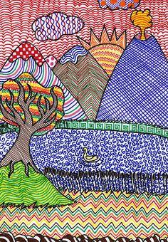 Idee siit arteascuola-miriampaternoster.blogspot.com/2010/10/paesag...