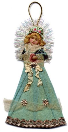 Vintage Inspired Ornament by Iva's Creations, via Flickr