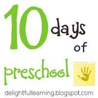 10 Days of Preschool Learning