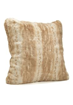 Faux Fur Pillows in Blonde Mink