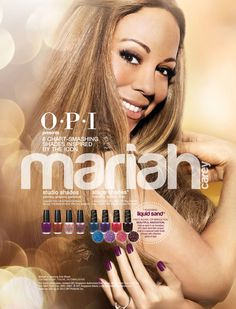 OPI announces the launch of eight new limited edition shades inspired and hand-selected by multiple Grammy Award winning recording artist Mariah Carey. Mariah Carey Collection by OPI 2012 available NOW at all OPI Outlets, OPI Retail Stores & OPI Singapore On-Line Store. Beware of Counterfeit! Buy OPI Products with OPI Warranty Seal by OPI Singapore Agent. For more information call OPI Singapore - Alexis Links Group Pte Ltd at 6841 0187. www.opi.com.sg