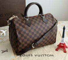 Réplica de Bolsa Louis Vuitton Speedy Bandouliére Damier Ebene Couro 30 Não  perca à oportunidade de adquirir agora sua bolsa Louis Vuitton em até 12x  no ... 258bda7c86