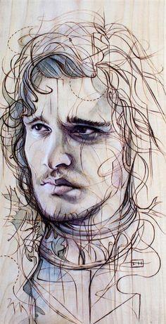 Jon Snow - Peguei no Pinterest do Geek Vox.