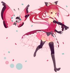 Madoka Magica Kyoko and Pokemon friend. The colors of that Pokemon fit perfectly for Kyoko's color set. I love how her outfit was drawn. Pokemon Film, My Pokemon, Pokemon Cosplay, Sylveon Cosplay, Madoka Magica, Pokemon Human Form, Gijinka Pokemon, Eevee Evolutions, Anime Girls
