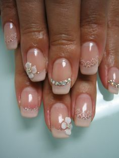 bridal Nail Designs | ... bridal nails design. Acrylic nails or not? : wedding acrylic nails IMG