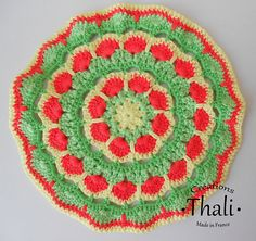Ravelry: Mandala African flower 2 pattern by Thali Créations