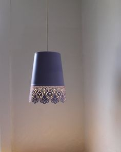 from an IKEA flower pot to a romantic hanging lamp, great idea! Love this idea for my patio actually.