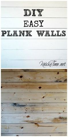 "How to Install a Wood Plank Wall and my ""Dear John"" - Knick of Time"