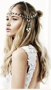 Head Piece with chains and coins