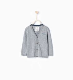 Knit cardigan with pocket