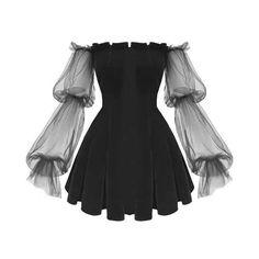 Gothic Off Shoulder Lantern Mesh Sleeve Mini Dress ROCK N DOLL Fashion doll Dress Gothic Lan Lantern mesh Mini rock Shoulder sleeve Mode Outfits, Dress Outfits, Fashion Dresses, Cute Goth Outfits, Gothic Outfits, Hijab Fashion, Fashion Clothes, Mini Dress With Sleeves, Bell Sleeve Dress