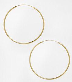 Créoles en argent plaqué or, Asos, 26,99 €
