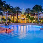 Sunset at the Curacao Marriott Beach Resort and Emerald Casino