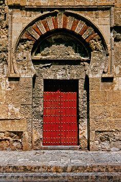 Spain - Andalucia - Cordoba Mosque door by Darrell Godliman Cool Doors, Unique Doors, Islamic Architecture, Art And Architecture, Entrance Doors, Doorway, Brickwork, Door Knockers, Moorish