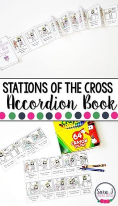 Stations of the cross printable mini book is the perfect activity for kids so that they can learn the events of Good Friday and Easter Religion Activities, Printable Activities For Kids, Kids Learning Activities, Church Activities, Easter Activities, Teaching Ideas, Good Friday Crafts, Sunday School Crafts For Kids, Catholic Crafts