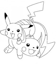 raichu and pikachu pokemon coloring page find your favorite raichu and pikachu pokemon coloring page in electric pokemon coloring pages section