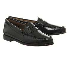 G.H Bass Penny Loafer Black Leather - Flats