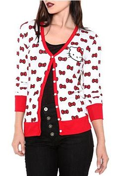 Hello Kitty Cardigan. MUST HAVE.