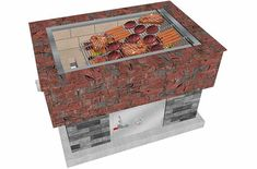 The BrickWood Box's angled Uruguayan Grill grate allows you to BBQ to all doneness-levels at the exact same time! The Uruguayan Grill is a traditional flat wood-fired grill too. Pizza Oven Kits, Diy Pizza Oven, Pizza Ovens, Bbq Grill, Grilling, Bbq Meat, Argentinian Bbq, Stainless Steel Grill, Patio Fire Pits