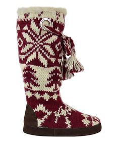 Take a look at this MUK LUKS Chianti & Vanilla Grace Boot on zulily today!