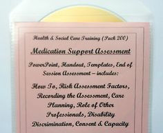 Training Resources CD MEDICATION SUPPORT ASSESSMENT Health and Social Care P200