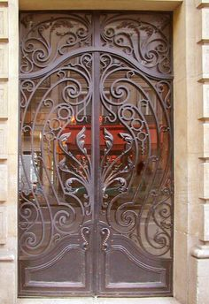 Wrought iron gates for residential and commercial properties. Fine art estate and commercial gates since Cool Doors, Unique Doors, Iron Gate Design, Custom Gates, Renaissance Architecture, Wrought Iron Doors, Iron Work, Entrance Gates, Exterior Design