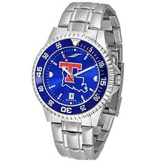 NCAA Louisiana Tech University Mens Stainless Watch COMPM-AC-LTU by SunTime. NCAA Louisiana Tech University Mens Stainless Watch COMPM-AC-LTU. Links Make Watch Adjustable.