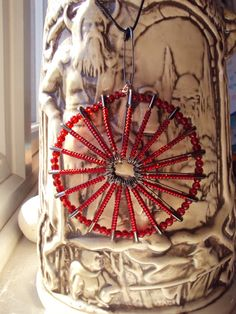 Safety+Pin+pendant+with+red+beads+by+Craftavie+on+Etsy,+£7.00