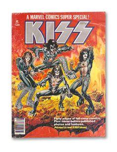 https://flic.kr/p/7j64PS   1977 Marvel KISS Comic Magazine Printed in real KISS blood!