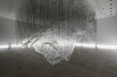 Installation inside. Reverse of volume by Yasuaki-Onishi