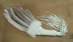 Authentic Native American Ceremonial Dance Prayer Fan by Apache artist Cynthia Whitehawk