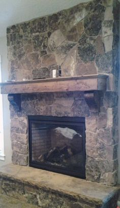 fireplace Idea for cullen's winery. Love this hearth