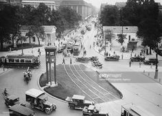 Potsdamer Platz in Berlin, Germany, with the traffic light tower in the centre, circa 1925.