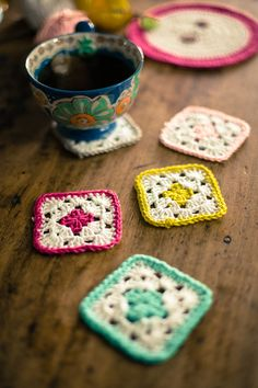 Crochet coasters The Cutest House In Germany