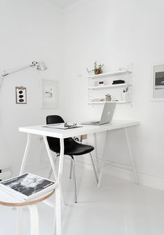 Via My Unfinished Home | Home Office | Black White