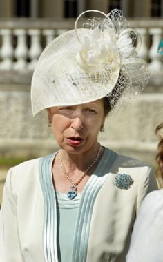 Anne, Princess Royal hat details as she attends a garden party at Buckingham Palace, 10.06.2014 in London, England.