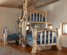 Pine And Fir Custom Triple Bunk Bed. Pine And Fir Logs Were ...