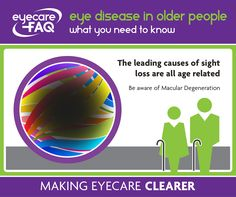 The leading causes of sight loss are all age related #maculardegeneration