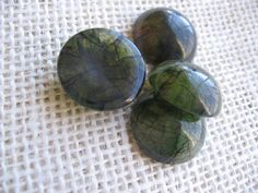 "Jewelry Cabochon Lot of FOUR 3/4"" Round Green Cabochon Supply Green Round Bead Lot Destash NotOnlyButtons"