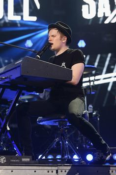 Patrick Stump of Fall Out Boy performs on stage during the MTV World Stage Monterrey Mexico 2013 at Arena Monterrey on October 3, 2013 in Monterrey, Mexico.