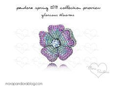 pandora spring 2018 glorious blooms brooch #pandorajewelry