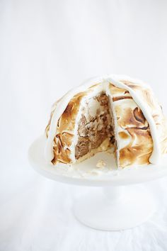 Hot Cross Bombe Baked Alaska