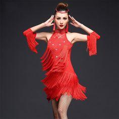 28efef464f Women Lady Latin Dancewear Salsa Cha Cha Tango Ballroom Dance Wear Costume  Dress for Stage Performance Costumes