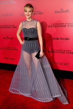 Jennifer Lawrence's Sheer Regret (2013) - Celebrity Fashion Regrets That Show We All Make Mistakes  - Photos