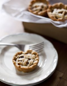Mini apple cranberry pie with spiced rum