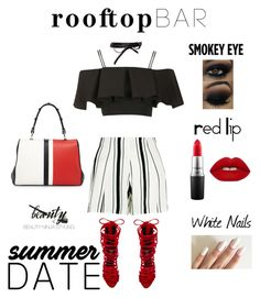 """""""Effortless Slay ~ Rooftop Bar ~ Styled by @beautyninjastyling"""" by beautyninjastyling ❤ liked on Polyvore featuring Prada, New Look, Topshop, Jeffrey Campbell, Fallon, MAC Cosmetics, Lime Crime, summerdate and rooftopbar"""