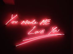 Tracy Emin - Neon Art often sends contradicting mesages about how she wodl Dream English, Light Wall Art, Tracey Emin, Neon Words, Heartbreak Hotel, Neon Design, Neon Aesthetic, Advertising Signs, Street Signs