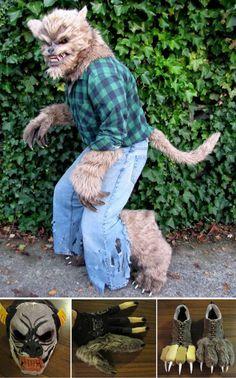 Werewolf costume heres a link on how to make the stilts http diy werewolf halloween costume idea solutioingenieria Choice Image
