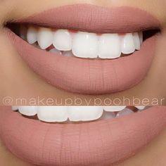Beautiful lip swatch by @makeupbypoohbear she used Katvond liquid lipstick in bow arrow