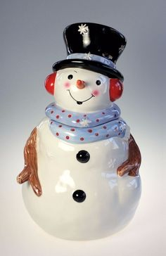 Design Pac Angel Christmas Holiday Cookie Jar Hand Painted